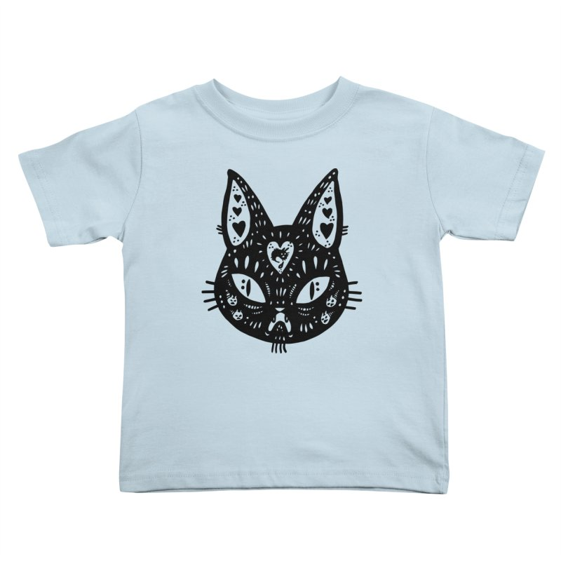 Cat face (with hearts) Kids Toddler T-Shirt by Haypeep's Artist Shop