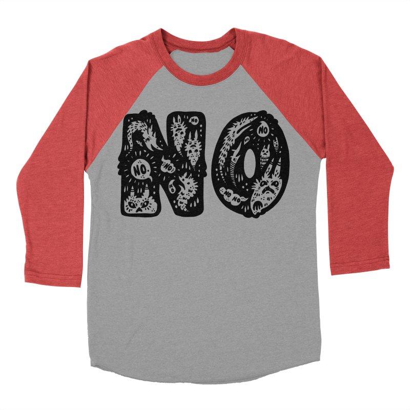 NO Women's Baseball Triblend Longsleeve T-Shirt by Haypeep's Artist Shop