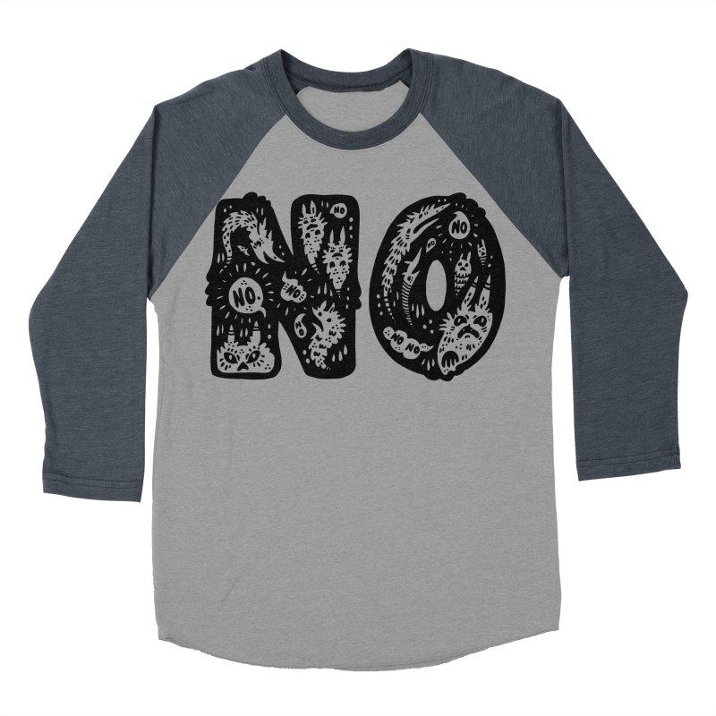NO Men's Baseball Triblend T-Shirt by Haypeep's Artist Shop
