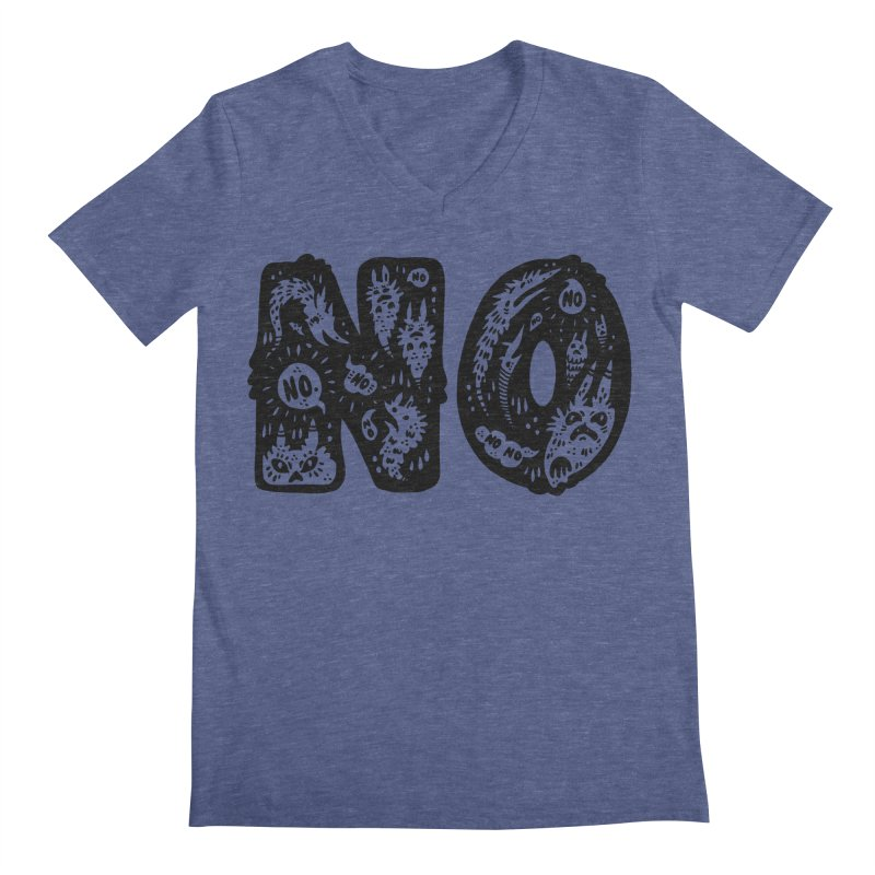 NO Men's Regular V-Neck by Haypeep's Artist Shop