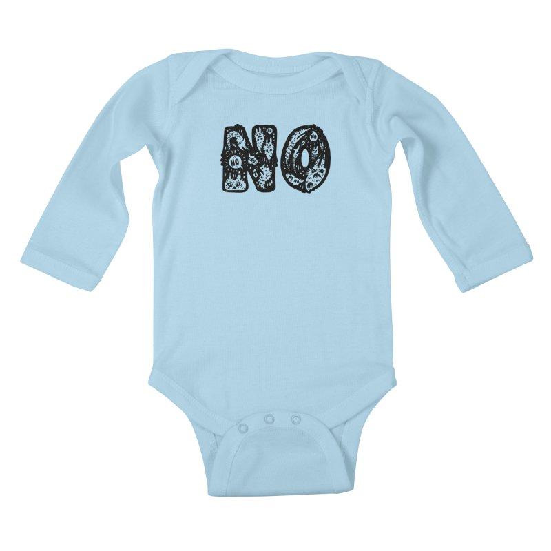 NO Kids Baby Longsleeve Bodysuit by Haypeep's Artist Shop