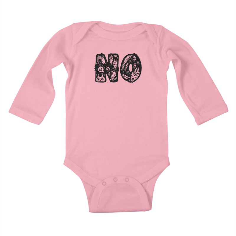 NO Kids Baby Longsleeve Bodysuit by Haypeep's Artist Shop