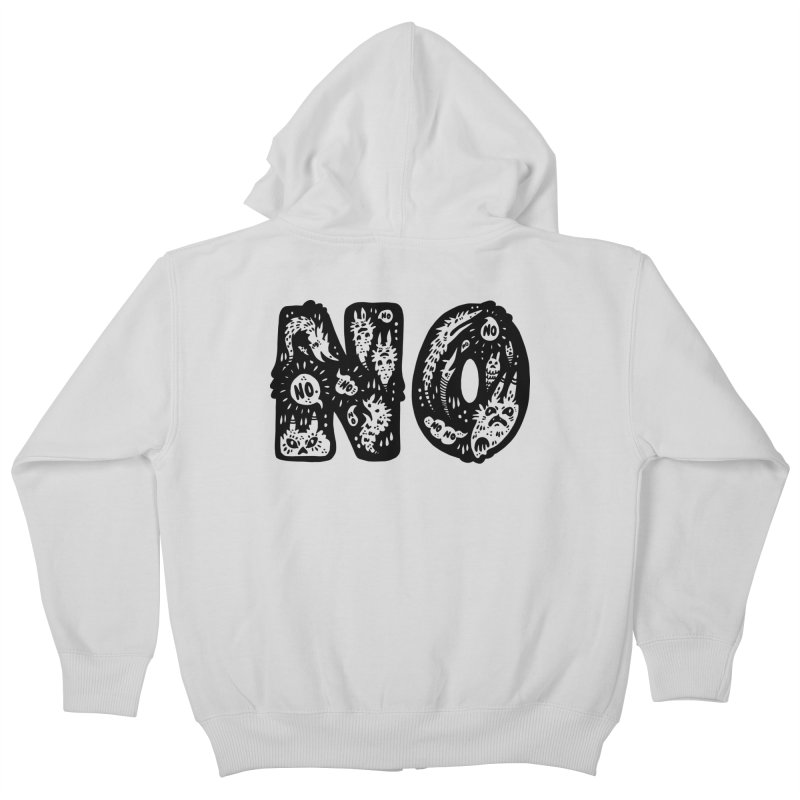 NO Kids Zip-Up Hoody by Haypeep's Artist Shop