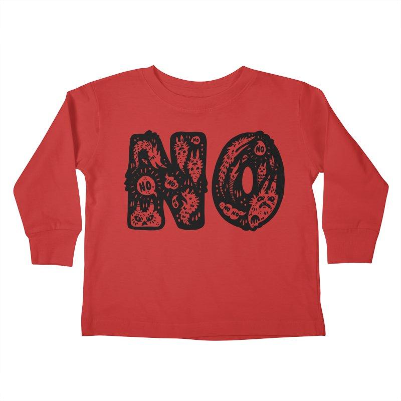 NO Kids Toddler Longsleeve T-Shirt by Haypeep's Artist Shop