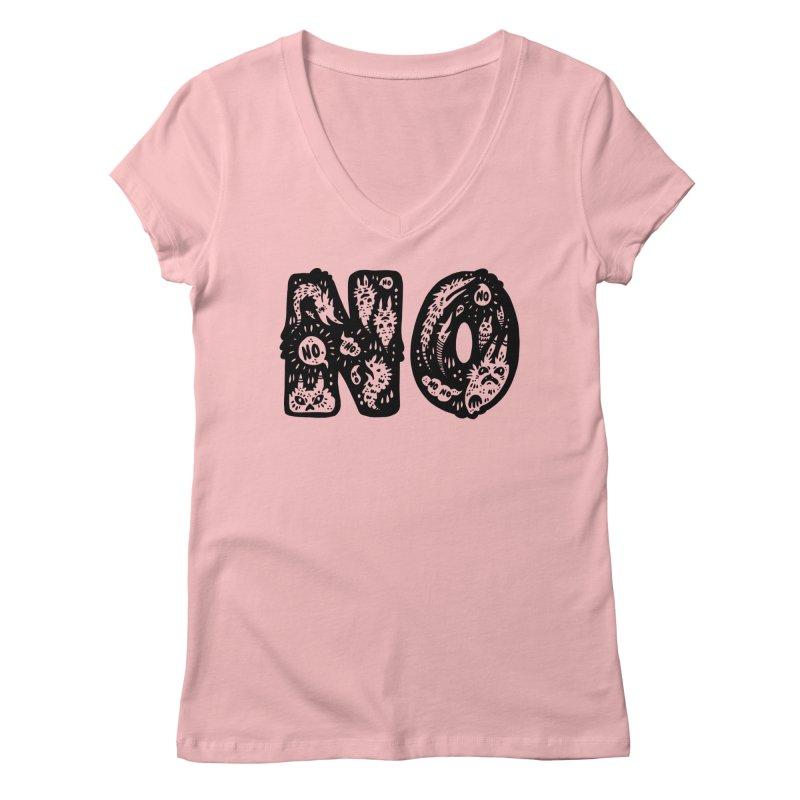 NO Women's V-Neck by Haypeep's Artist Shop