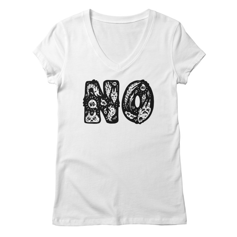 NO Women's Regular V-Neck by Haypeep's Artist Shop