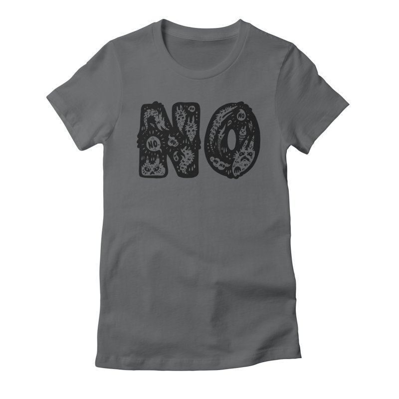 NO Women's Fitted T-Shirt by Haypeep's Artist Shop