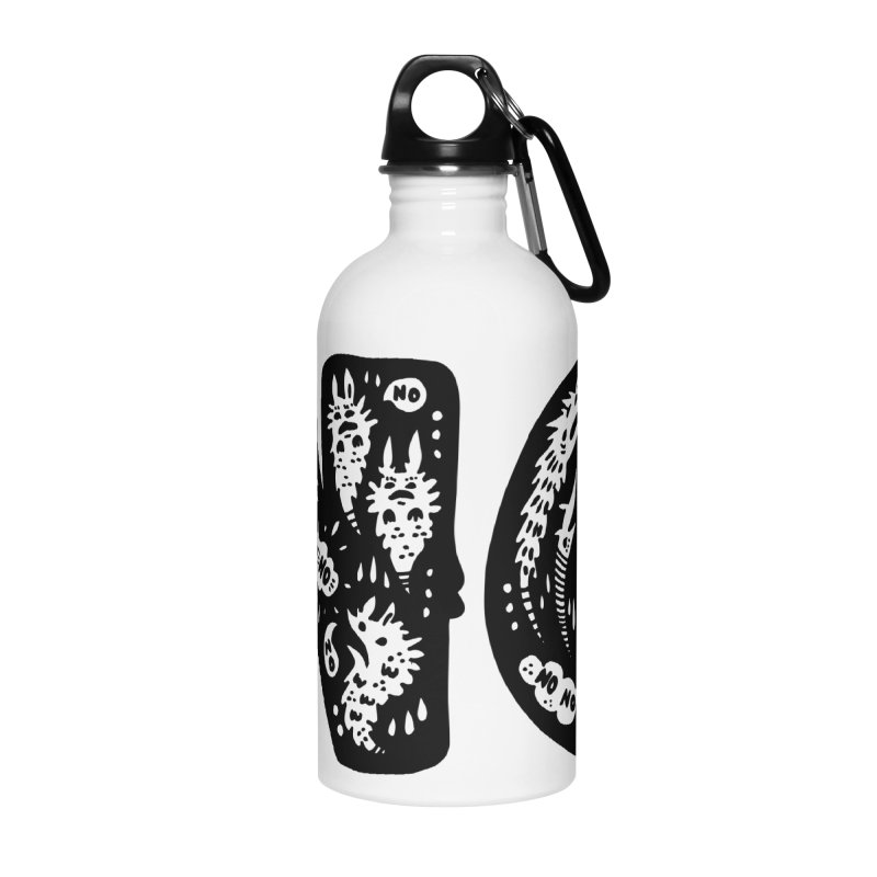 NO Accessories Water Bottle by Haypeep's Artist Shop