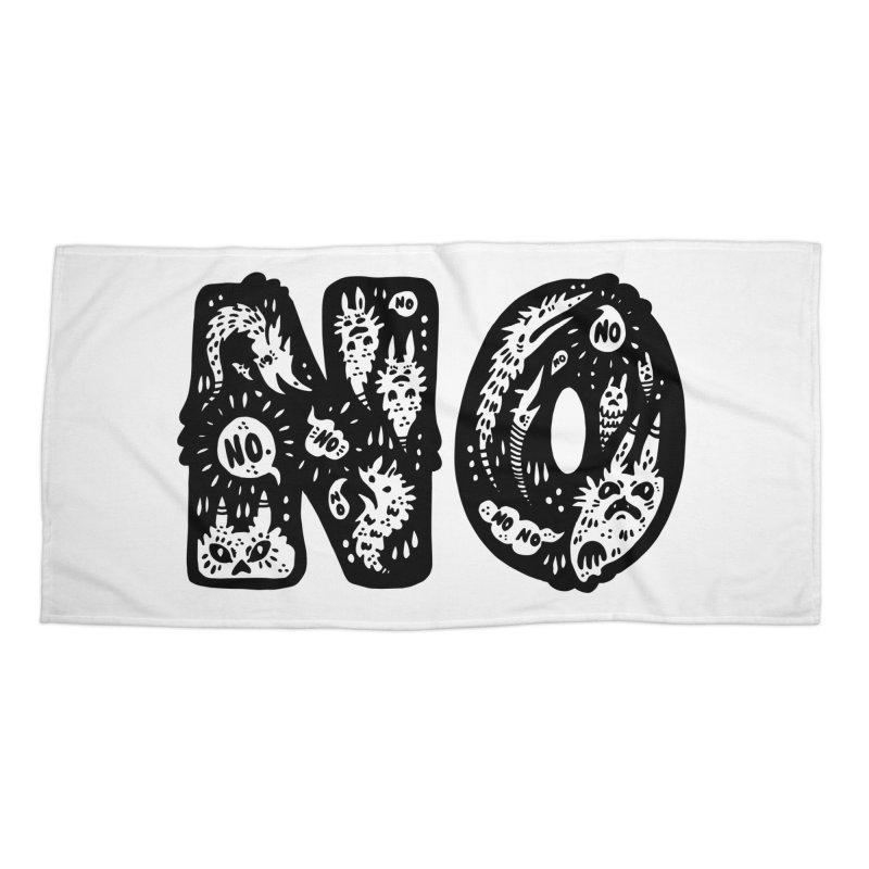 NO Accessories Beach Towel by Haypeep's Artist Shop