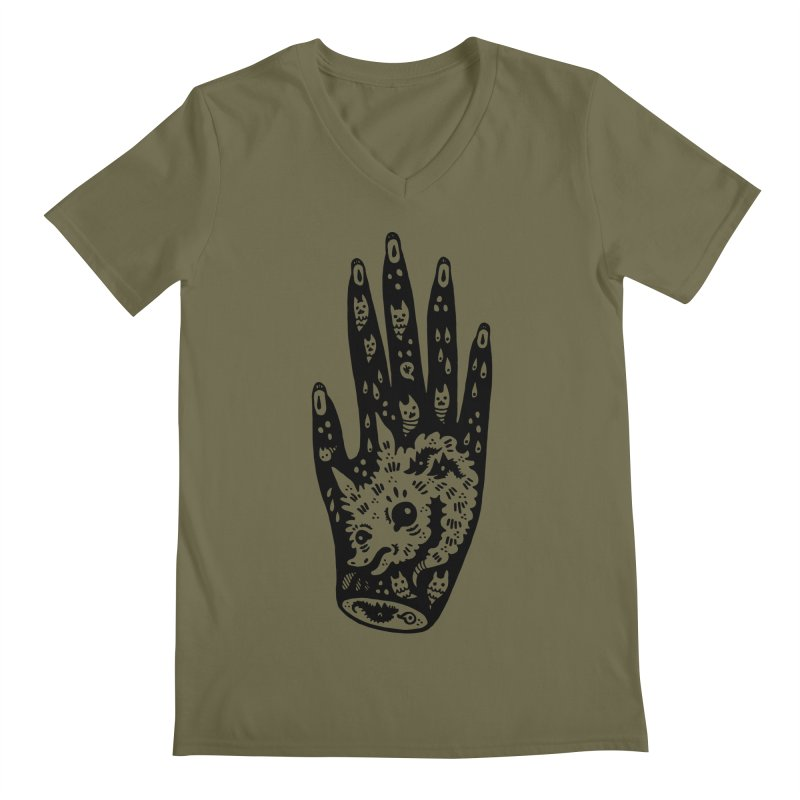 Right Hand Men's Regular V-Neck by Haypeep's Artist Shop