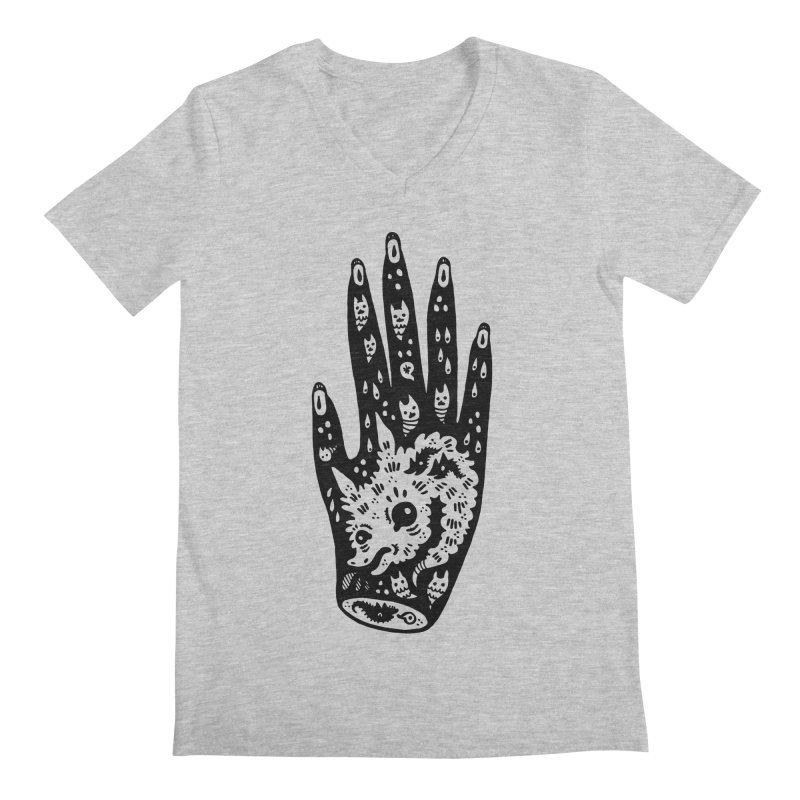 Right Hand Men's V-Neck by Haypeep's Artist Shop
