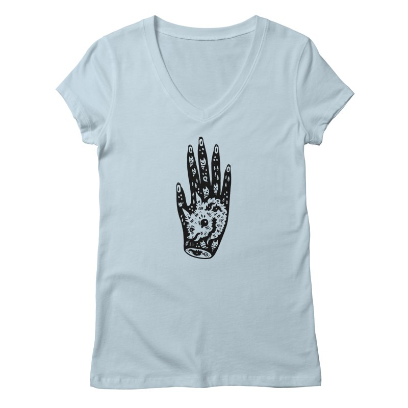 Right Hand Women's V-Neck by Haypeep's Artist Shop