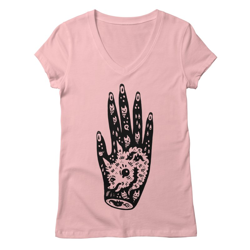 Right Hand Women's Regular V-Neck by Haypeep's Artist Shop