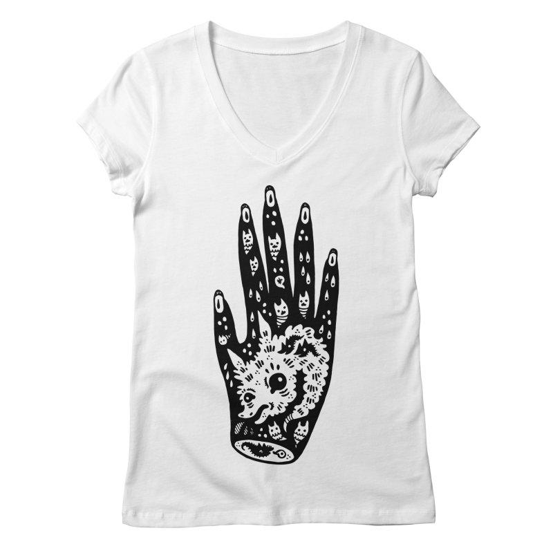Right Hand Women's Regular V-Neck by Haypeep's Artist Shop