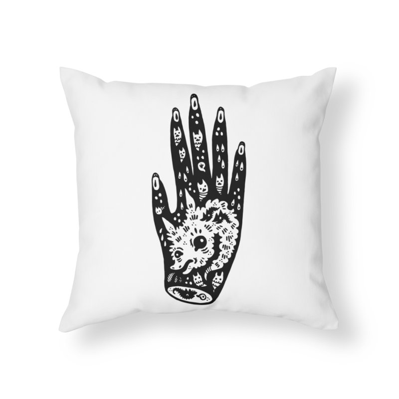 Right Hand Home Throw Pillow by Haypeep's Artist Shop