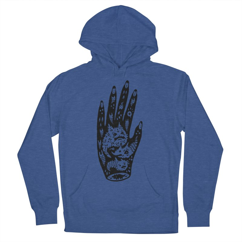 Left Hand Women's French Terry Pullover Hoody by Haypeep's Artist Shop