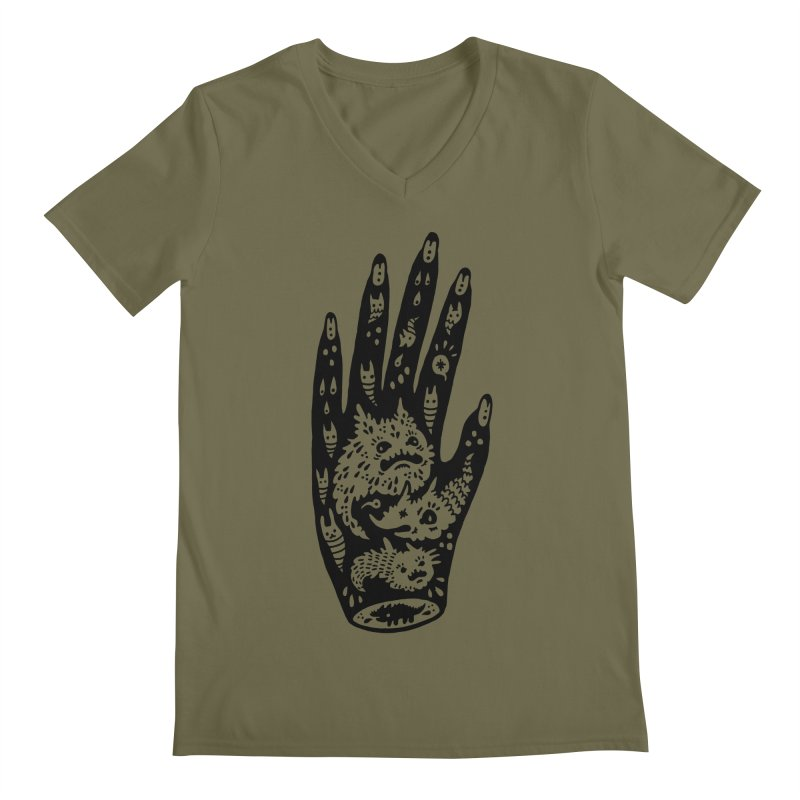 Left Hand Men's V-Neck by Haypeep's Artist Shop