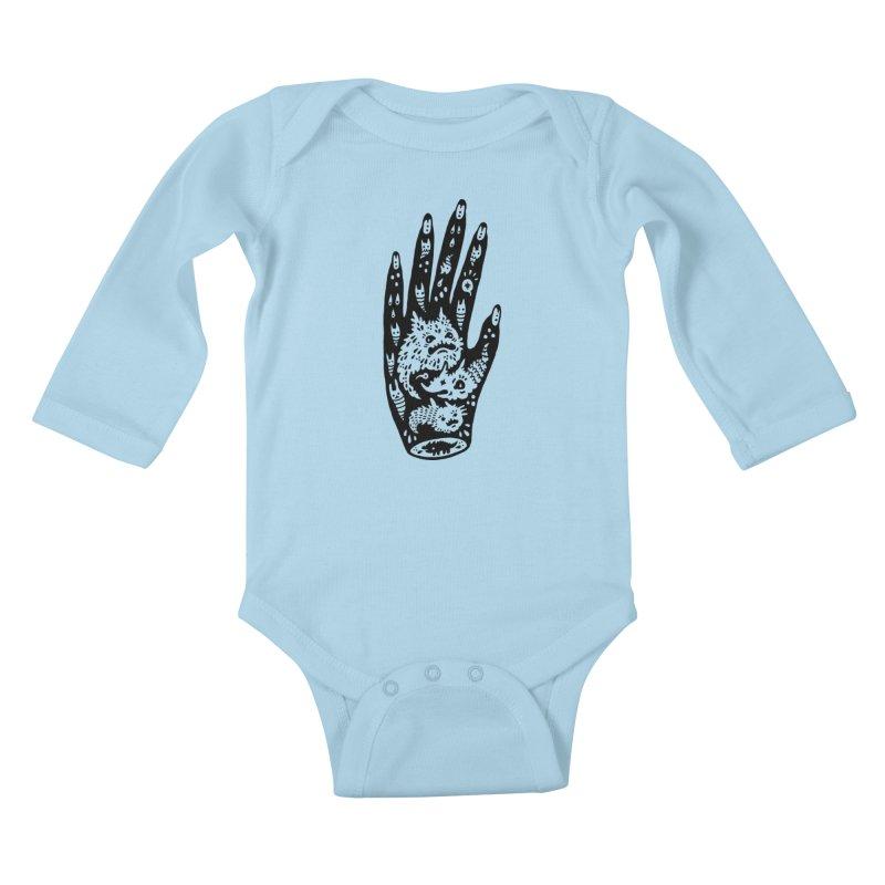 Left Hand Kids Baby Longsleeve Bodysuit by Haypeep's Artist Shop
