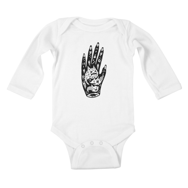 Left Hand Kids Baby Longsleeve Bodysuit by Haypeep's Artist Shop