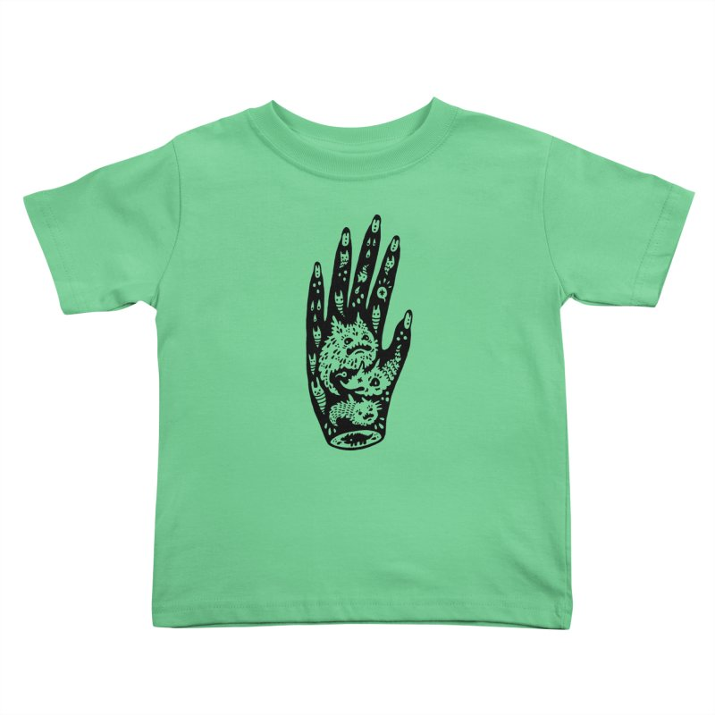 Left Hand Kids Toddler T-Shirt by Haypeep's Artist Shop