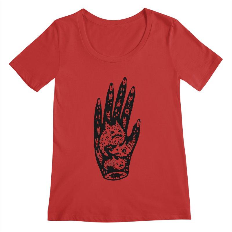Left Hand Women's Scoopneck by Haypeep's Artist Shop