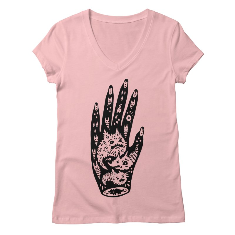 Left Hand Women's V-Neck by Haypeep's Artist Shop