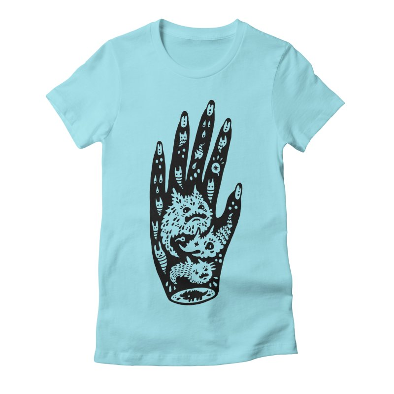Left Hand Women's Fitted T-Shirt by Haypeep's Artist Shop