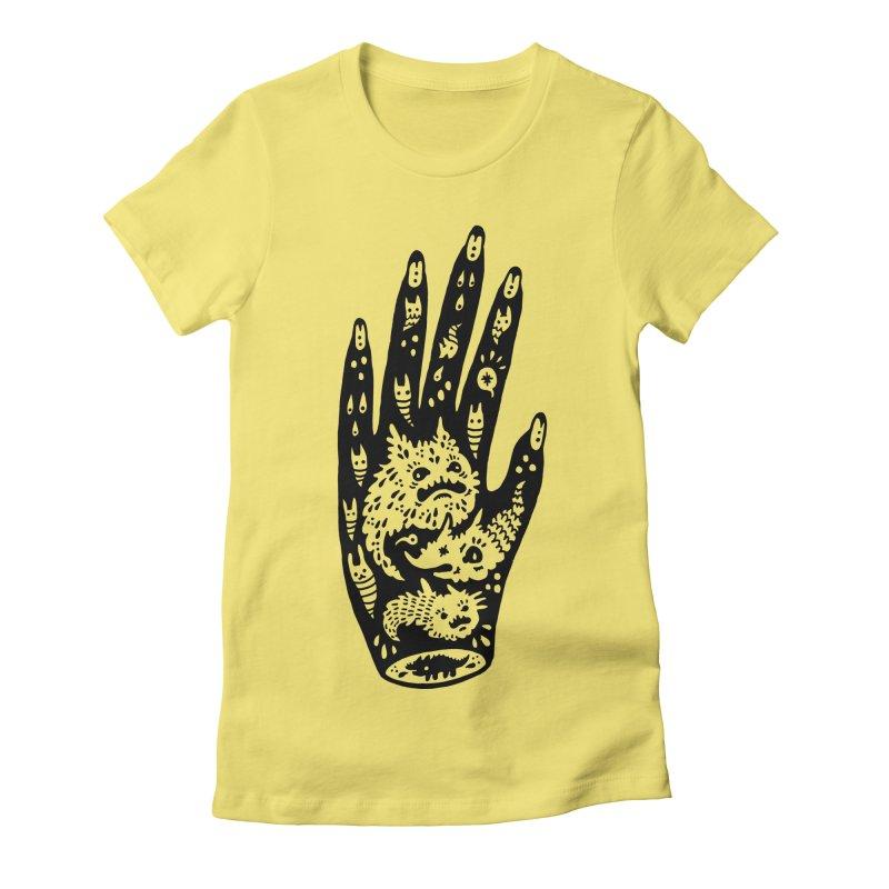 Left Hand Women's Fitted T-Shirt by Haypeep's Artist Shop
