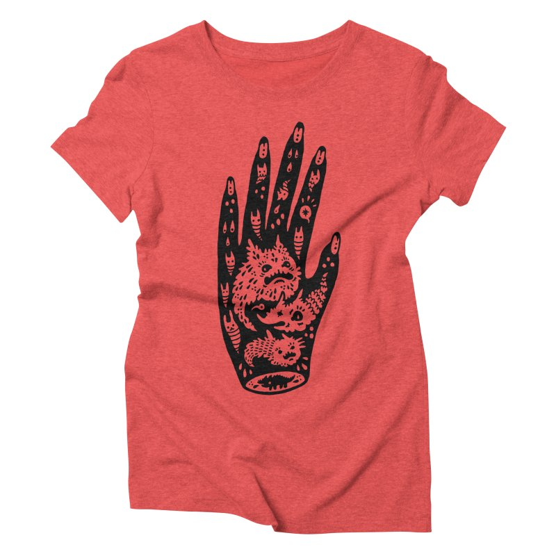 Left Hand Women's Triblend T-Shirt by Haypeep's Artist Shop