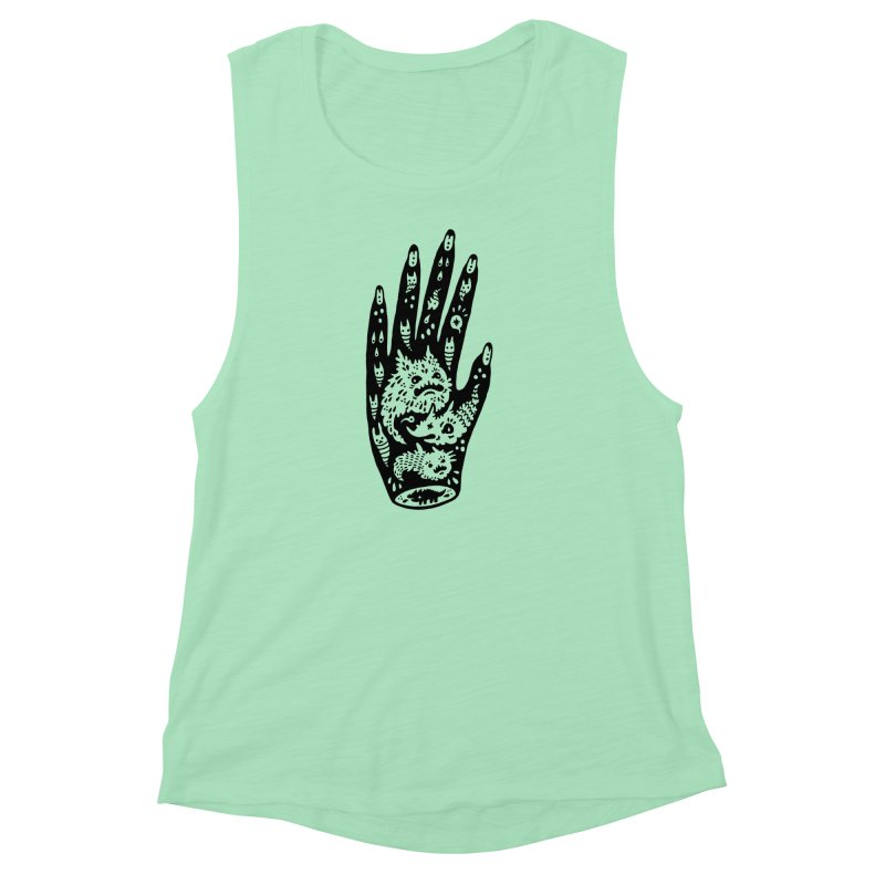 Left Hand Women's Muscle Tank by Haypeep's Artist Shop