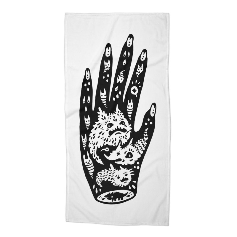 Left Hand Accessories Beach Towel by Haypeep's Artist Shop