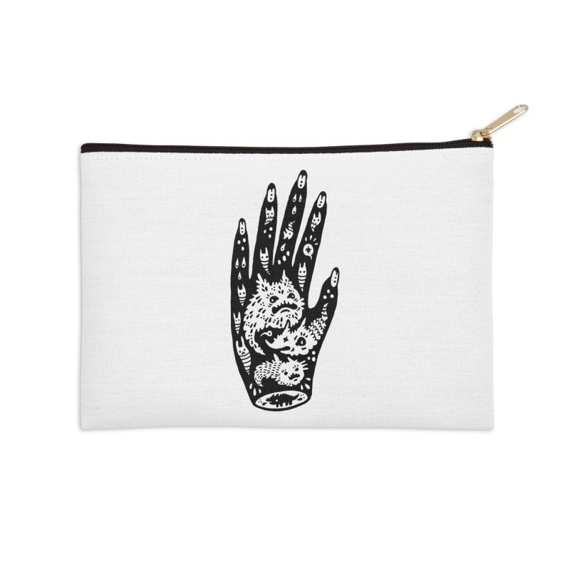 Left Hand Accessories Zip Pouch by Haypeep's Artist Shop