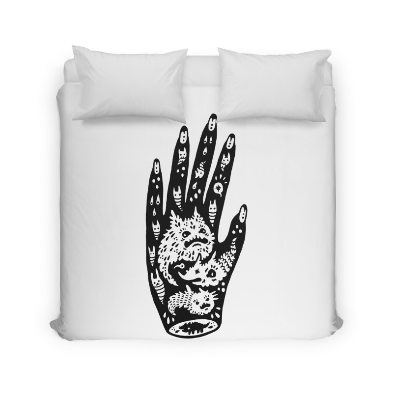 Left Hand Home Duvet by Haypeep's Artist Shop