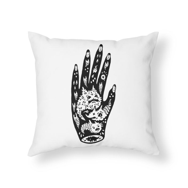 Left Hand Home Throw Pillow by Haypeep's Artist Shop