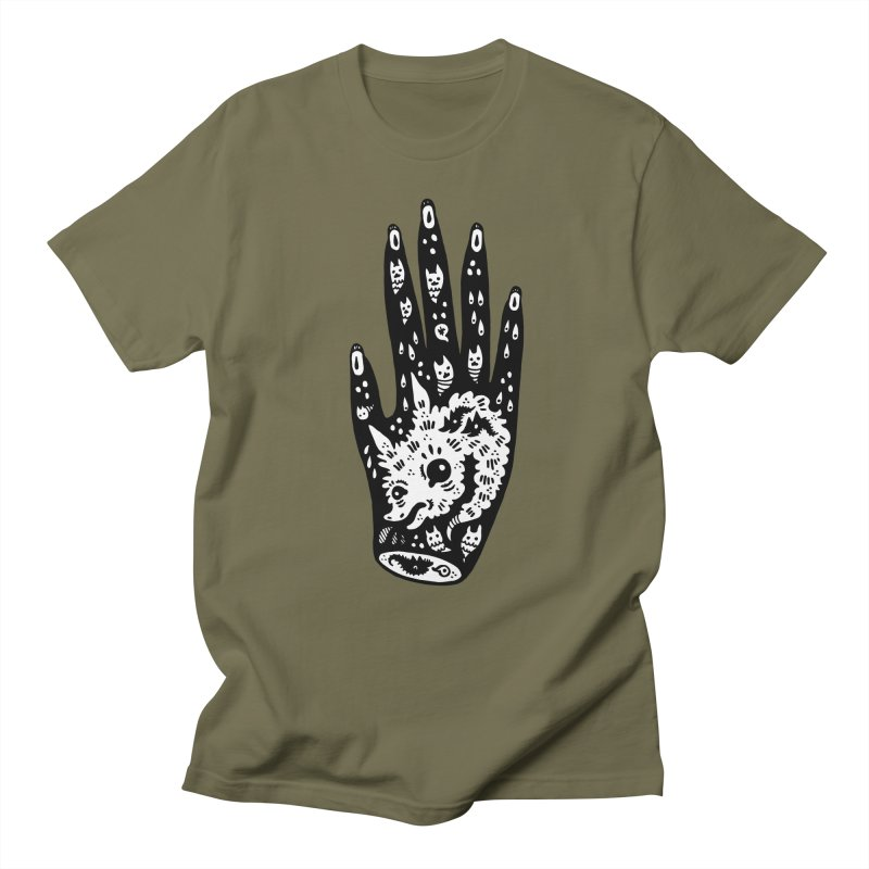 Right Hand (white inside) Men's Regular T-Shirt by Haypeep's Artist Shop