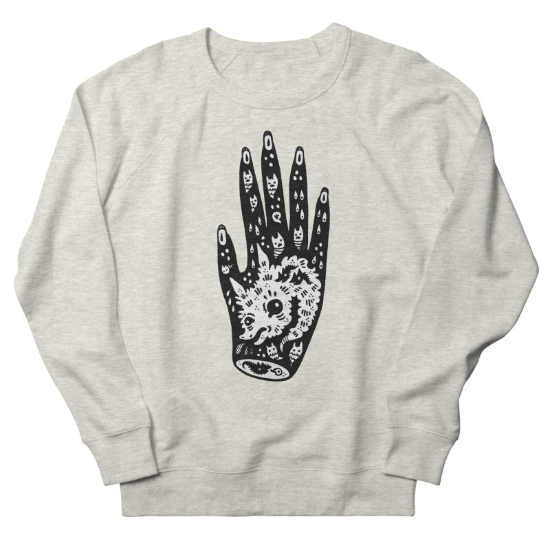 Right Hand (white inside) Women's French Terry Sweatshirt by Haypeep's Artist Shop