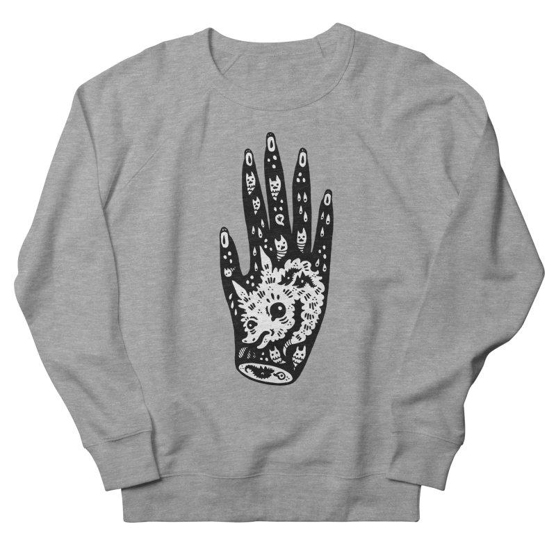 Right Hand (white inside) Men's French Terry Sweatshirt by Haypeep's Artist Shop
