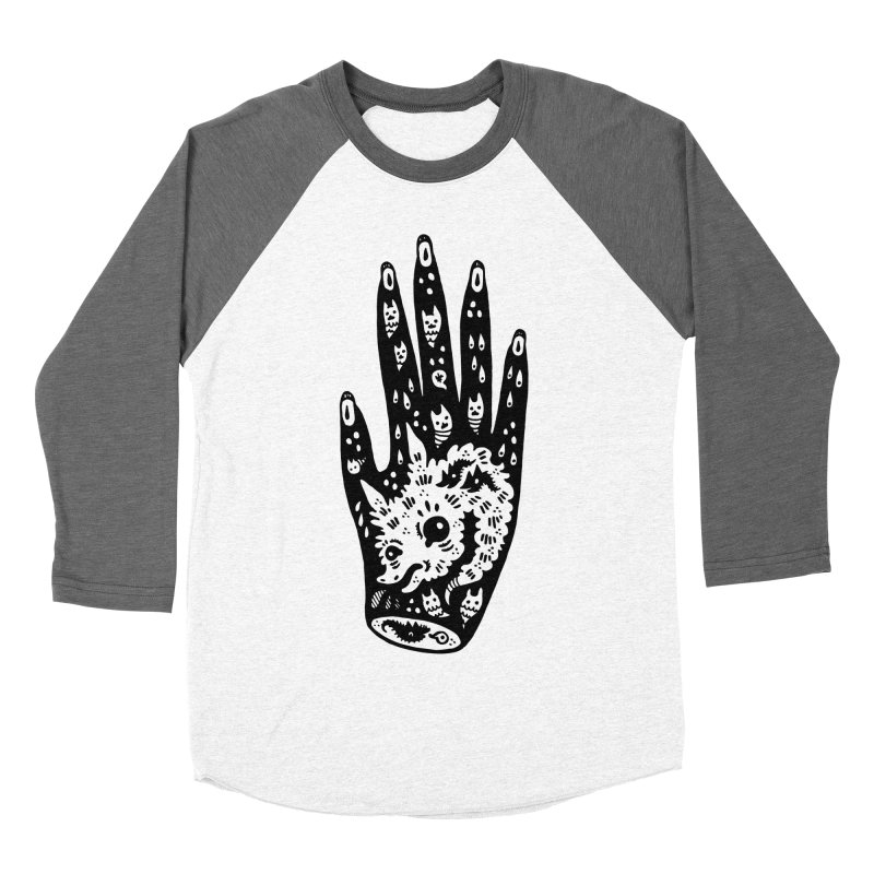 Right Hand (white inside) Women's Baseball Triblend Longsleeve T-Shirt by Haypeep's Artist Shop