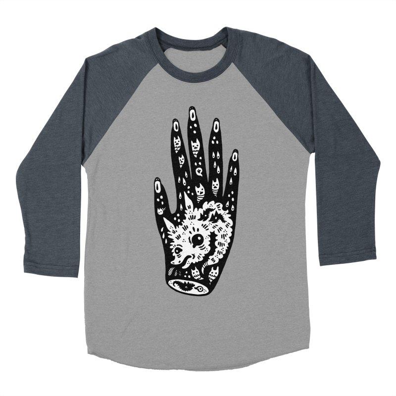 Right Hand (white inside) Men's Baseball Triblend T-Shirt by Haypeep's Artist Shop