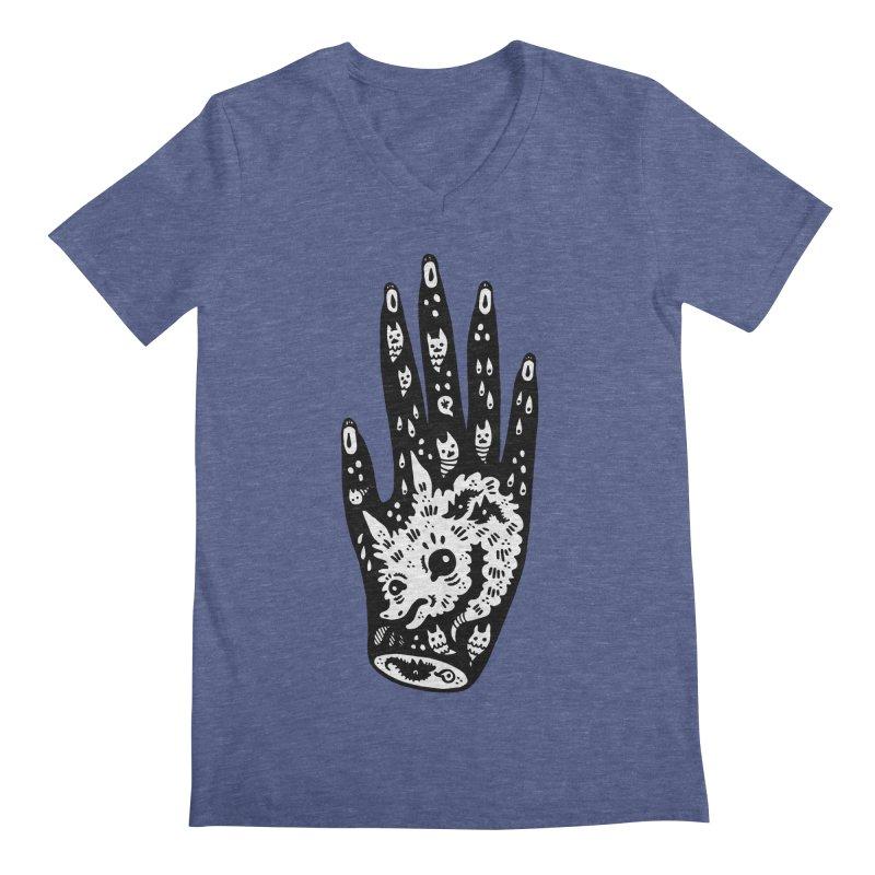 Right Hand (white inside) Men's Regular V-Neck by Haypeep's Artist Shop