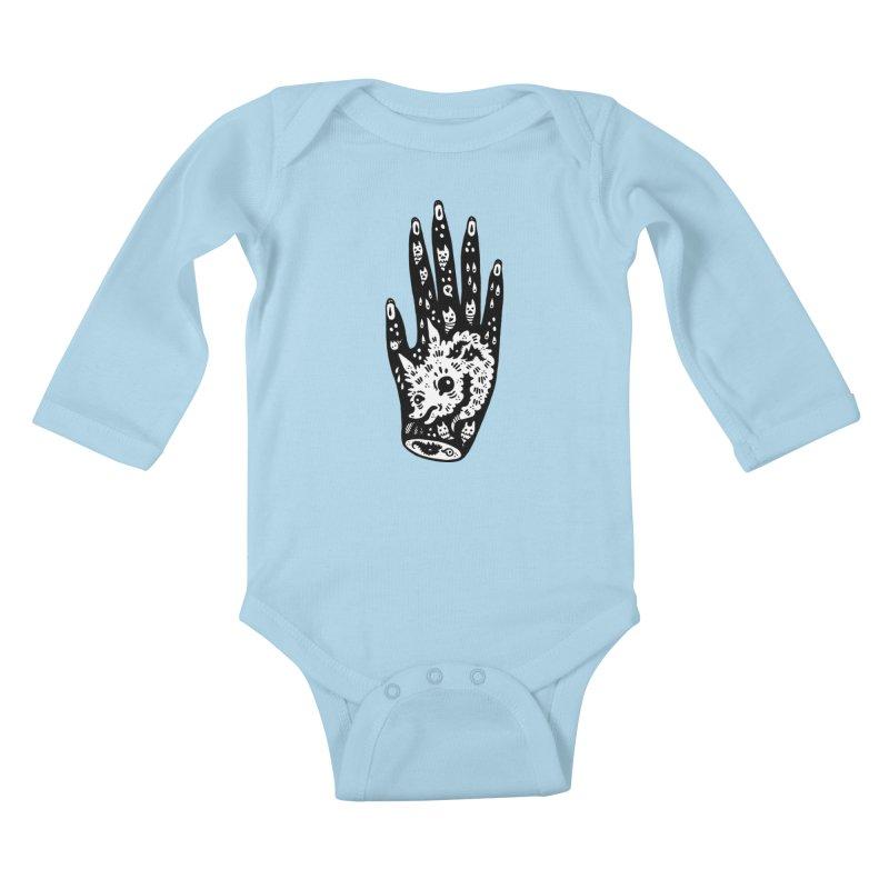 Right Hand (white inside) Kids Baby Longsleeve Bodysuit by Haypeep's Artist Shop