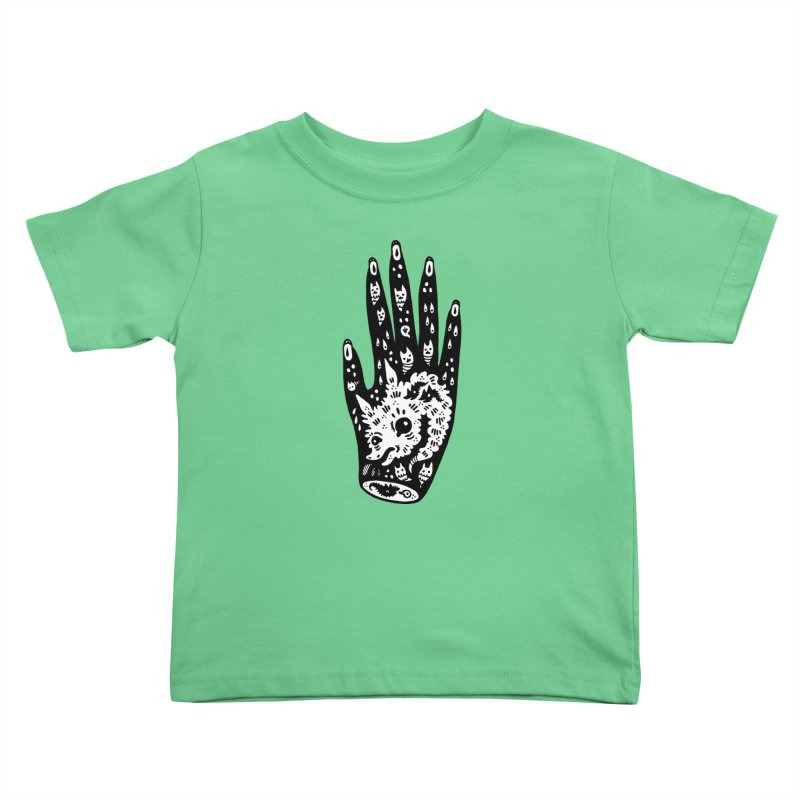 Right Hand (white inside) Kids Toddler T-Shirt by Haypeep's Artist Shop