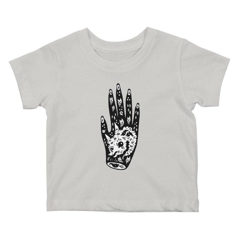 Right Hand (white inside) Kids Baby T-Shirt by Haypeep's Artist Shop