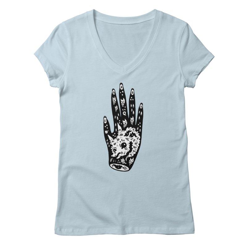 Right Hand (white inside) Women's V-Neck by Haypeep's Artist Shop