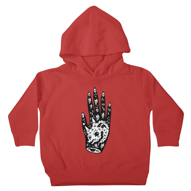 Right Hand (white inside) Kids Toddler Pullover Hoody by Haypeep's Artist Shop