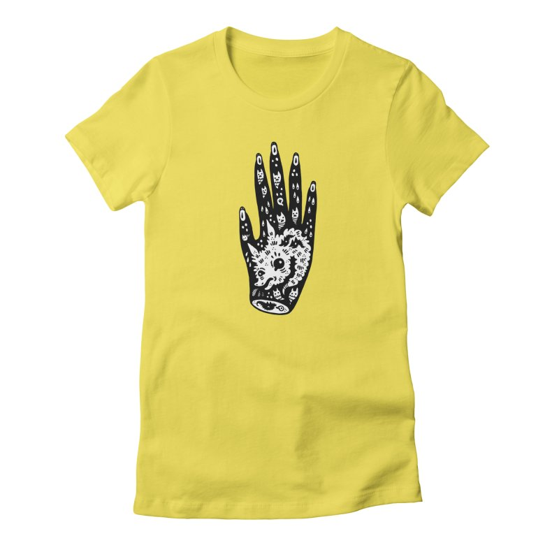 Right Hand (white inside) Women's T-Shirt by Haypeep's Artist Shop