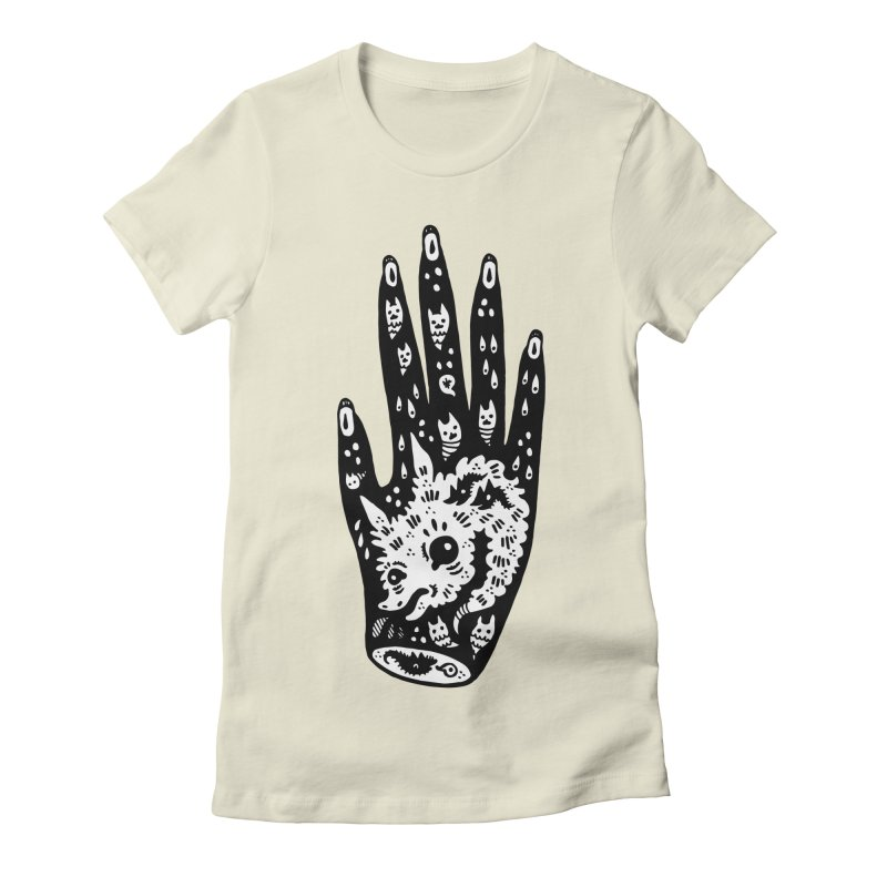 Right Hand (white inside) Women's Fitted T-Shirt by Haypeep's Artist Shop