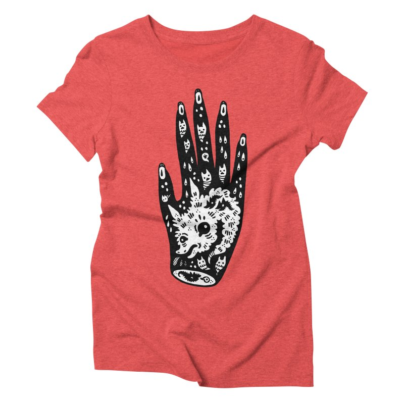 Right Hand (white inside) Women's Triblend T-Shirt by Haypeep's Artist Shop