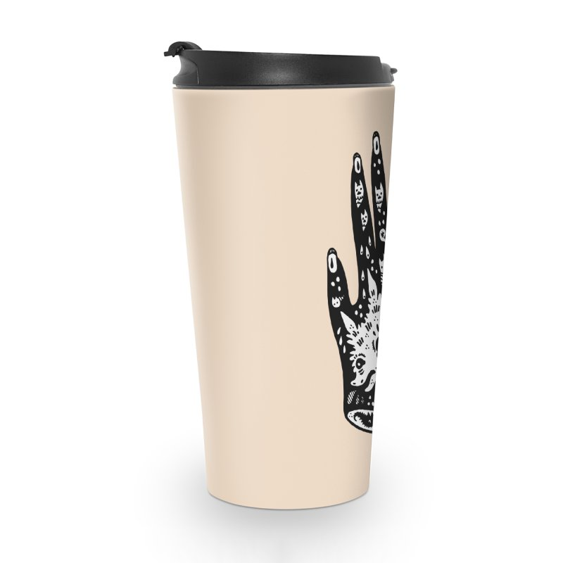 Right Hand (white inside) Accessories Travel Mug by Haypeep's Artist Shop