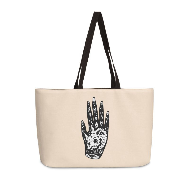 Right Hand (white inside) Accessories Bag by Haypeep's Artist Shop